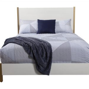 Madelyn Wood Panel Bed White-Cabo-Home-Furniture-Seasalt-Home-Interiors