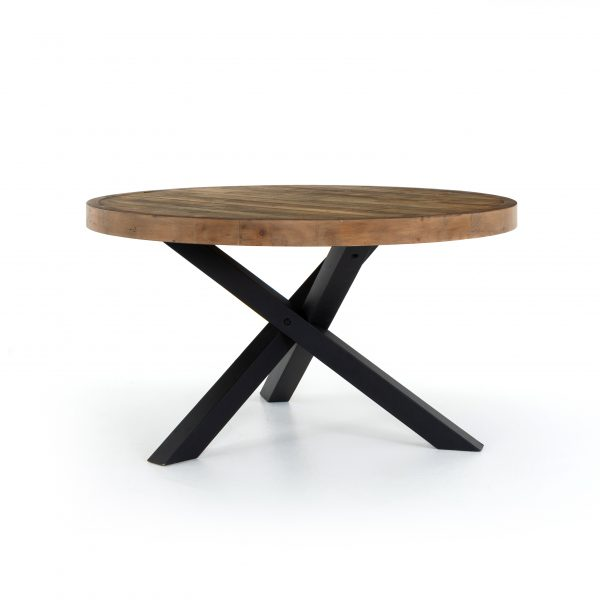 Reclaimed Woodenforge Round Dining Table-Cabo-Home-Furniture-Seasalt-Home-Interiors
