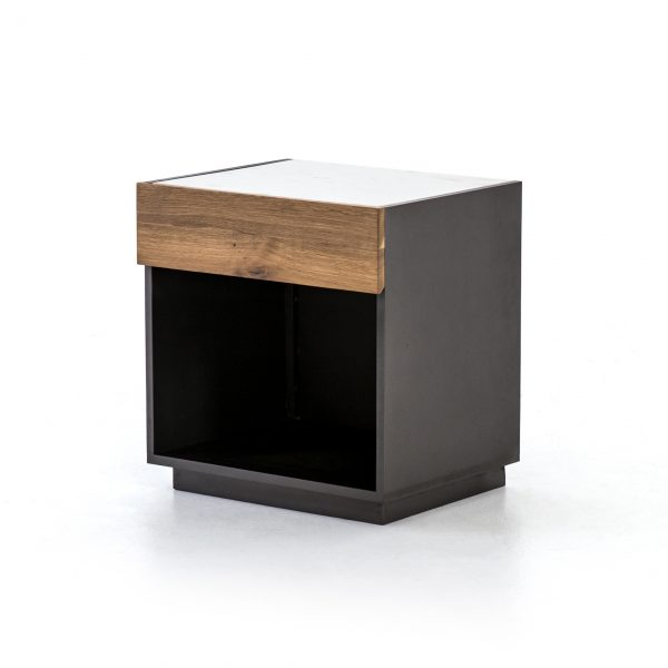 Holland Nightstand Grey Lacquer-Cabo-Home-Furniture-Seasalt-Home-Interiors
