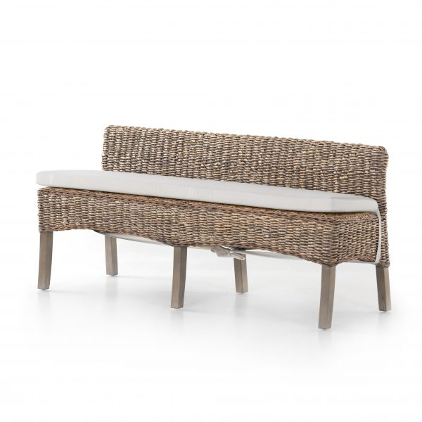 Grass Roots Banana Leaf Dining Bench-Cabo-Home-Furniture-Seasalt-Home-Interiors