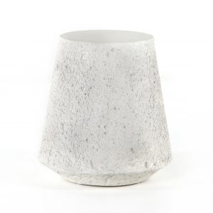 Concrete Otero Outdoor Tapered End Table-Cabo-Home-Furniture-Seasalt-Home-Interiors