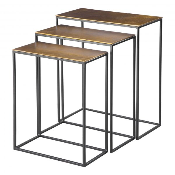 Coreene Nesting Tables (Set Of 3) Gold-Cabo-Home-Furniture-Seasalt-Home-Interiors
