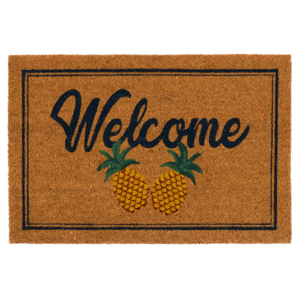 Doormat Two Pineapples Natural Rug-Cabo-Home-Furniture-Seasalt-Home-Interiors
