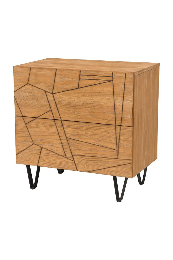 Trapezoid Nightstand Cerused Wheat-Cabo-Home-Furniture-Seasalt-Home-Interiors
