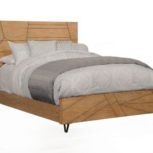 Trapezoid Cerused Wheat Bed-Cabo-Home-Furniture-Seasalt-Home-Interiors