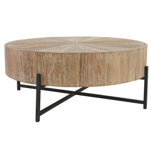 Allan Round Coffee Table Reclaimed Elm- seasalt home interiors - los cabos home furniture