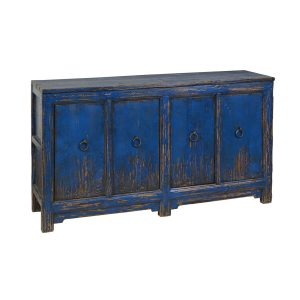 Amherst 4Dr Buffet Antique Blue-Cabo-Home-Furniture-Seasalt-Home-Interiors