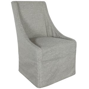 Warwick Upholstered Rolling Dining Chair Granite-Cabo-Home-Furniture-Seasalt-Home-Interiors