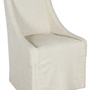 Warwick Upholstered Rolling Dining Chair Oatmeal-Cabo-Home-Furniture-Seasalt-Home-Interiors