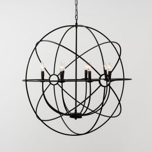 Derince Iron Chandelier Large With Bulb-Cabo-Home-Furniture-Seasalt-Home-Interiors