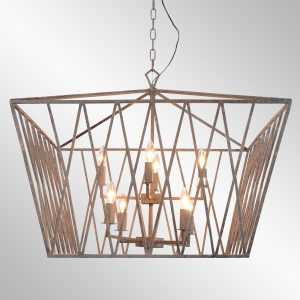 Wyatt Chandelier Large With Bulb-Cabo-Home-Furniture-Seasalt-Home-Interiors