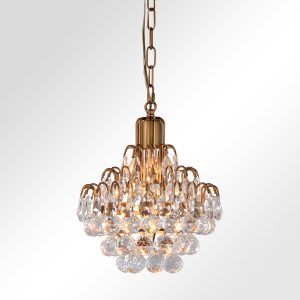 Grace Crystal Chandelier Small With Bulb-Cabo-Home-Furniture-Seasalt-Home-Interiors