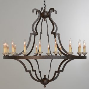 Gatsby Chandelier Large With Bulb-Cabo-Home-Furniture-Seasalt-Home-Interiors