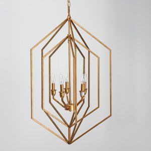 Jewel Chandelier w-Bulb-Cabo-Home-Furniture-Seasalt-Home-Interiors