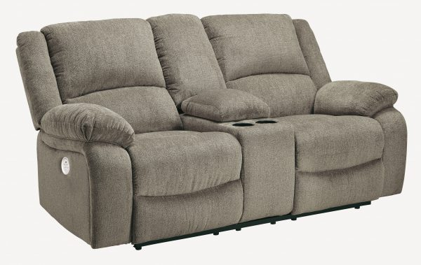 Draycoll Double Reclining Loveseat w/ Console-Cabo-Home-Furniture-Seasalt-Home-Interiors