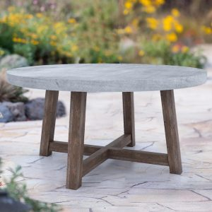 Bordeaux Round Table With Concrete-Cabo-Home-Furniture-Seasalt-Home-Interiors