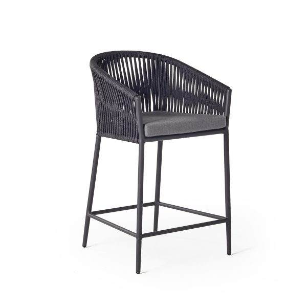 Olema Counter Chair in Charcoal-Cabo-Home-Furniture-Seasalt-Home-Interiors