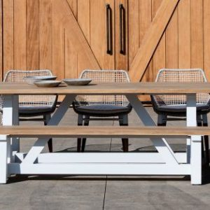 Madera Bench With White Base-Cabo-Home-Furniture-Seasalt-Home-Interiors