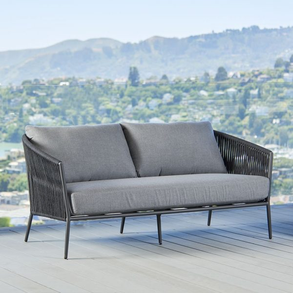 Olema Love Seat In Charcoal-Cabo-Home-Furniture-Seasalt-Home-Interiors