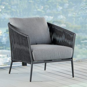 Olema Lounge Chair In Charcoal-Cabo-Home-Furniture-Seasalt-Home-Interiors