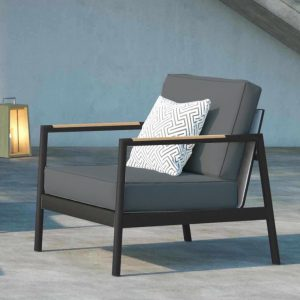 Pasadena Lounge Chair in Charcoal-Cabo-Home-Furniture-Seasalt-Home-Interiors