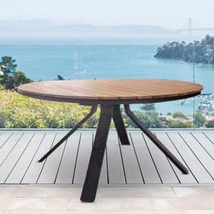 Portola Table In Charcoal And Teak 58″-Cabo-Home-Furniture-Seasalt-Home-Interiors