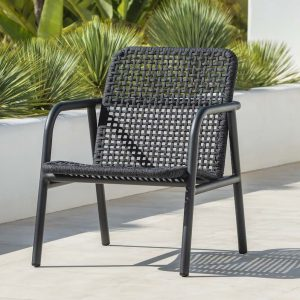 Presidio Lounge Chair In Charcoal-Cabo-Home-Furniture-Seasalt-Home-Interiors
