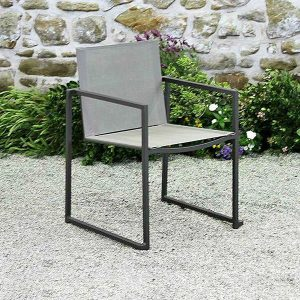 Santa Monica Chair in Charcoal with Silver Grey Mesh-Cabo-Home-Furniture-Seasalt-Home-Interiors