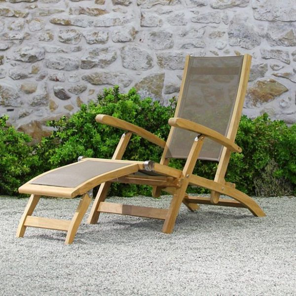 Mendocino Steamer Chair With Teak And Batyline-Cabo-Home-Furniture-Seasalt-Home-Interiors