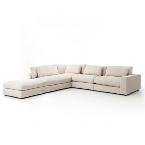 Kensington Bloor 4 piece Sectional With Ottoman-Cabo-Home-Furniture-Seasalt-Home-Interiors