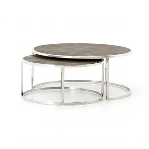 Bentley Shagreen Nesting Coffee Table-Cabo-Home-Furniture-Seasalt-Home-Interiors