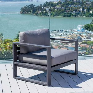 Belvedere Metal Lounge Chair in Charcoal-Cabo-Home-Furniture-Seasalt-Home-Interiors
