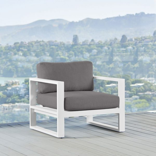Belvedere Metal Lounge Chair in White-Cabo-Home-Furniture-Seasalt-Home-Interiors