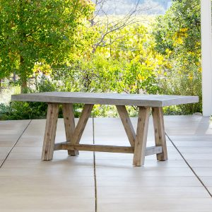 Bordeaux Table With Concrete-Cabo-Home-Furniture-Seasalt-Home-Interiors