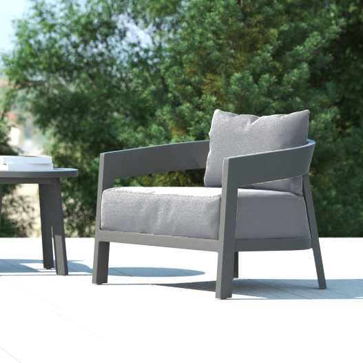 Cavallo Lounge Chair in Charcoal-Cabo-Home-Furniture-Seasalt-Home-Interiors