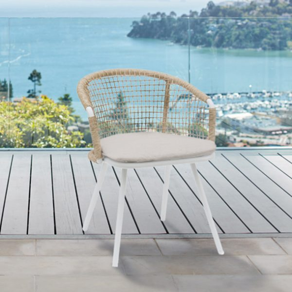 Cazadero Dining Chair In White-Cabo-Home-Furniture-Seasalt-Home-Interiors