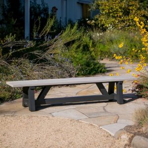 Madera Bench With Charcoal Base-Cabo-Home-Furniture-Seasalt-Home-Interiors
