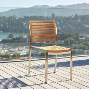 Milano Stainless and Teak Side Chair-Cabo-Home-Furniture-Seasalt-Home-Interiors