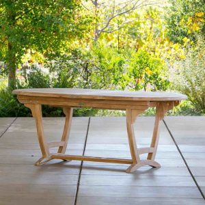 Ravello Oval Teak Extension Table-Cabo-Home-Furniture-Seasalt-Home-Interiors