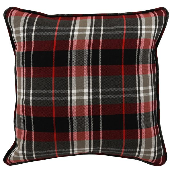 Ve Holiday Plaid Red Multi 18x18-Cabo-Home-Furniture-Seasalt-Home-Interiors