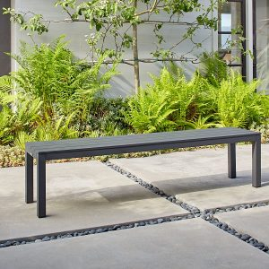 Belvedere Backless Bench In Charcoal-Cabo-Home-Furniture-Seasalt-Home-Interiors